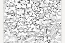 Abstract Pyramidal Shape. 3D Render