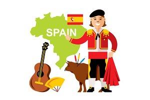 Spain travel concept