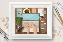 Workplace concept. Office theme