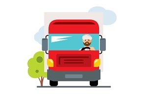 Arab truck driver