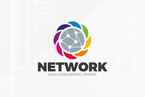 Colorful Network Logo Template