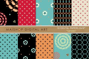 Digital Papers - Sandals