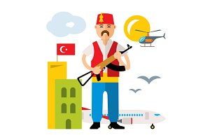 Turkey Airport. Security Officer