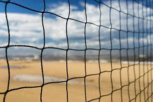 Large net against the blue sky