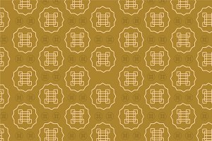 Asia seamless pattern vector