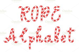 Alphabet of rope