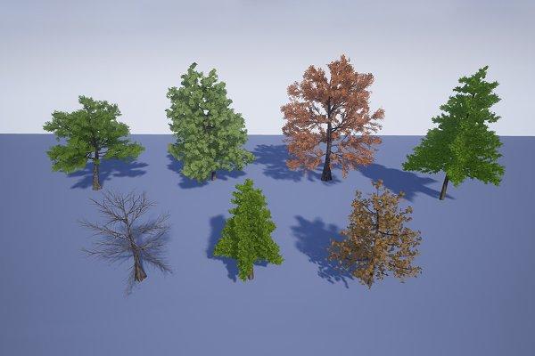 3D Environment: Defuse Studios - Realistic Trees 1