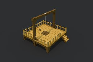 Low Poly Gallows