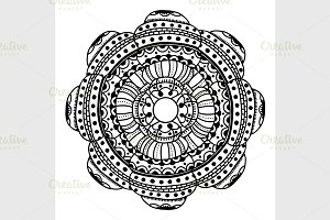 circle flower ornament
