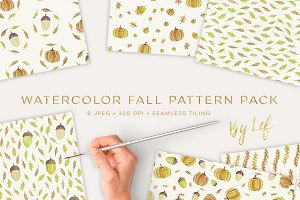 Fall Pattern Watercolor Pack