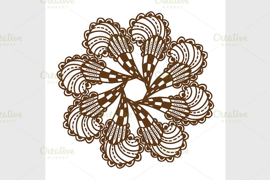 4498b8be9 Henna Tattoo Mandala ~ Graphics ~ Creative Market