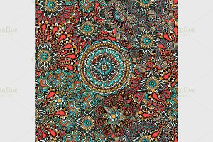 Seamless Colored Ornate Pattern