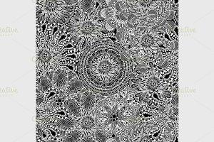 mandala with decorative ornament