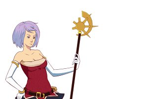 Fantasy Magician Girl Illustration