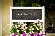 Flower Shop Chalkboard Mockup