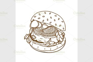 Burger sandwich sketch
