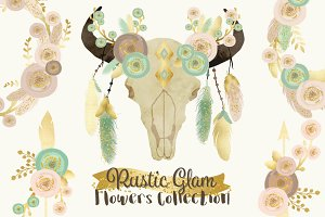 40% OFF!! Rustic Glam Floral