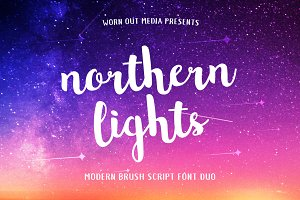 Northern Lights Brush Script Font