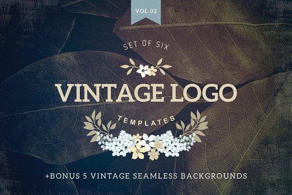 Vintage logo templates Vol 2