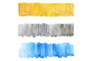 Watercolor silver gold blue texture