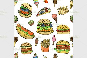 various food background