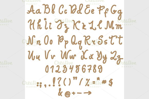 Vector alphabet. Hand drawn letters. - Fonts