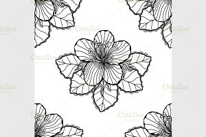 black and white flower background