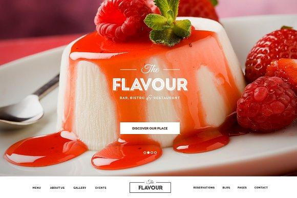 The Flavour - Restaurant WP Theme