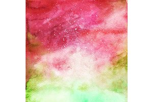 Watercolor space galaxy background