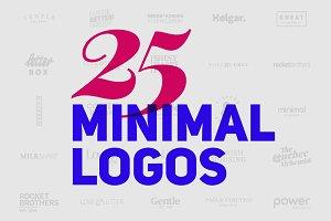 25 Minimal Logos