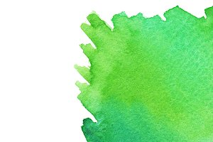 Watercolor green spot texture