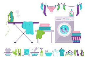 Washing and Laundry Icons
