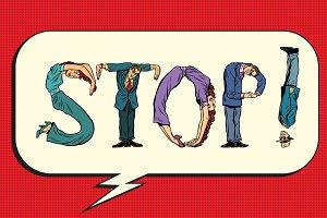 Stop human figures