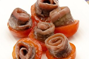 Anchovies with tomato