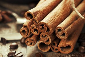 cinnamon, coffee and spices