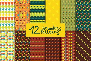 12 abstract colorful patterns