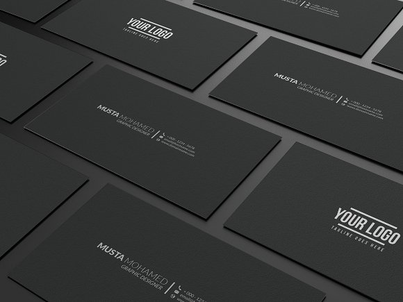 Clean black minimal business card business card templates clean black minimal business card business card templates creative market colourmoves