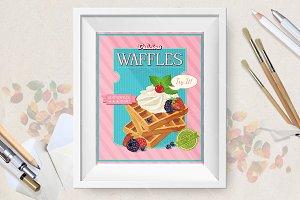 Cute waffles set