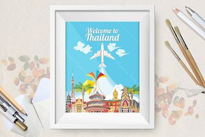 Welcome to Thailand travel poster