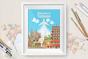 Welcome to Vietnam travel poster