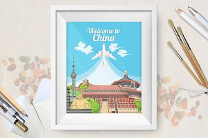 Welcome to China travel poster