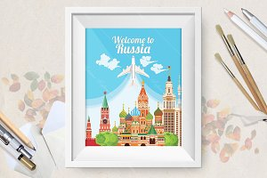 Welcome to Russia travel poster