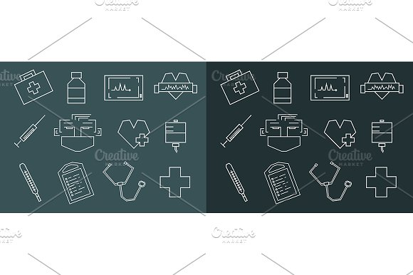 Medical icons. Vector - Illustrations