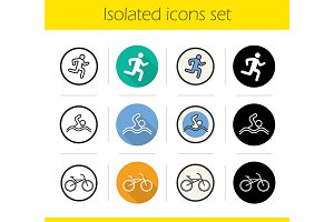 Sport. 12 icons. Vector