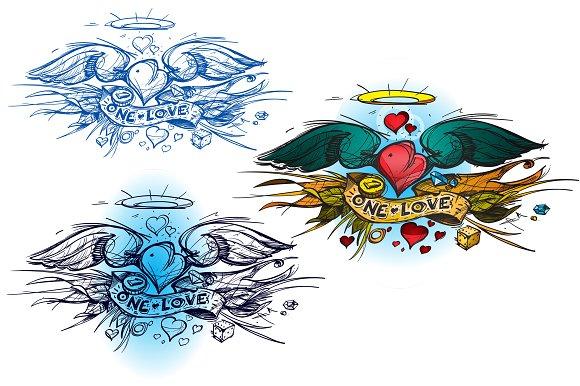 Tattoo sketch. Old school