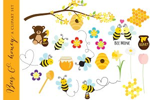 Bees clipart clip art honey bear