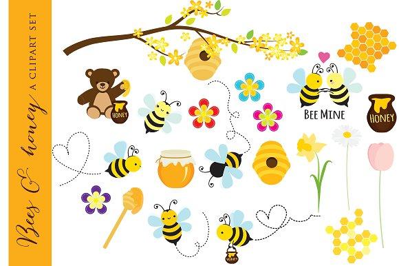 Bees clipart clip art honey bear