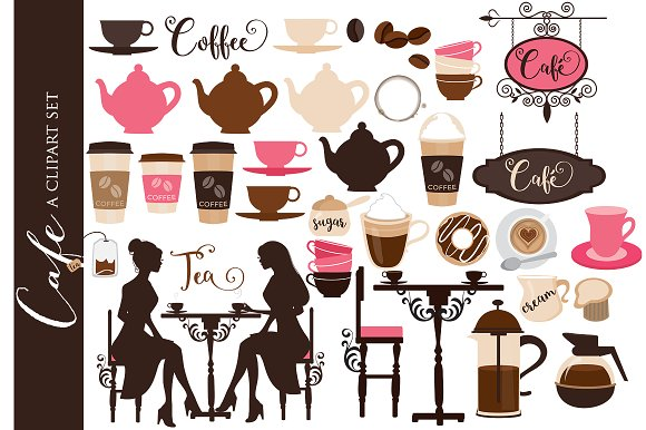 Coffee clip art cafe clipart tea in Illustrations