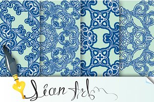 Set of 4 ornamental backgrounds