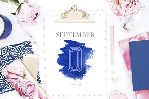 September Birthstone Art Print